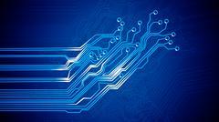 Signals of Circuit Board. - stock illustration