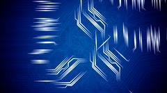 Circuit board's signals. - stock illustration