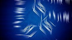 Circuit board's signals. Stock Illustration