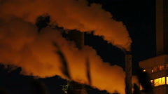 Industrial stacks Air pollution Stock Footage