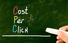 Cost per click concept Stock Photos