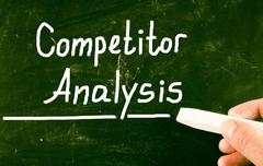 competitor analysis concept - stock photo