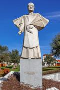 Statue of the former Porto Bishop, Dom Antonio Ferreira Gomes - stock photo