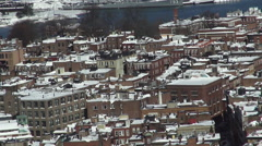 Boston North End Pan winter Stock Footage