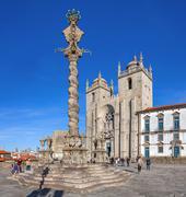 Stock Photo of Pillory in the Cathedral Square aka Terreiro da Se