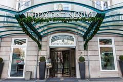 Entrance of the Palacio das Cardosas Intercontinental Hotel Stock Photos