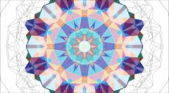 Abstract background animation for your projects. Smooth changing kaleidoscope. S Stock Footage