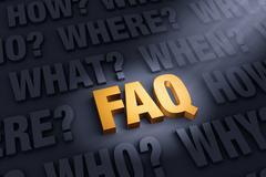 Stock Illustration of The FAQ