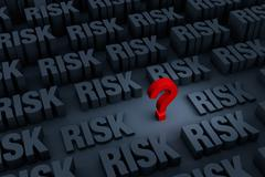 Stock Illustration of Worried About Growing Risk