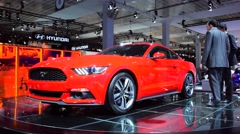 Ford Mustang Muscle car Stock Footage