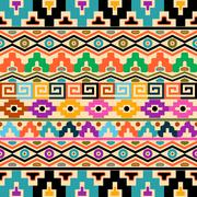 Stock Illustration of Vector seamless background with geometric ornaments aztec style