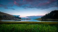 Time Lapse of sunset at Prokosko lake, 4K Stock Footage
