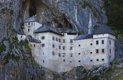 Predjama Castle in Postojna Cave, Slovenia - stock photo