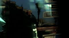 France Paris lights crossing illuminated traffic vehicle transport Stock Footage