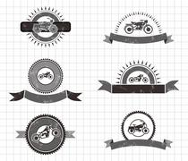 Chopper motorcycle Stock Illustration