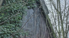 Scary Window Abandoned Shed - 25FPS PAL Stock Footage