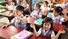 kindergarten Children are learning Thailand - stock footage