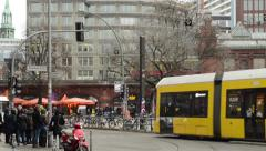 Time lapse. Traffic at Berlin district Mitte at Hackescher Markt. Stock Footage