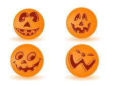 Vector pumpkin by a holiday halloween - stock illustration