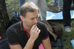 Khimki, Moscow region, Russia - August 19, 2012. Opposition leader Alexei Nav - stock photo