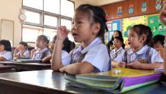 kindergarten Children are learning Thailand - stock footage