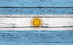 Argentina Flag Grunge Background - stock photo