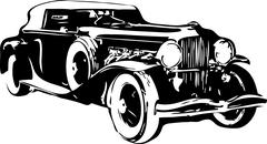 Retro Car Vector Stock Illustration