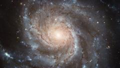 The Pinwheel Galaxy, a spiral galaxy in constellation the Big Dipper Stock Footage