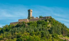 La Rocca Fortress in Radicofani, Tuscany, Italy - stock photo
