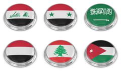 Nation flag icon set - stock illustration