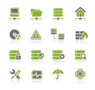 Network & Server // Natura Series Stock Illustration