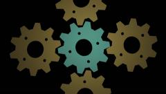 Stock Video Footage of Cogwheels gear background for VJ