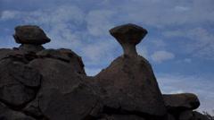 4K Time Lapse Unique Rock Formations - stock footage