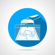 Round infant ultrasound vector icon Stock Illustration