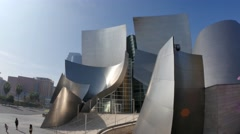 Walt Disney Concert Hall Establishing Shot Stock Footage