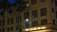 Nighttime Store or Apartment Building Establishing Shot Stock Footage