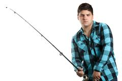 Teenage Fisherman - stock photo