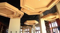 Modern Restaurant Interior Design Stock Footage