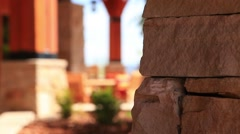 Outdoor Restaurant Tables Brick Stock Footage