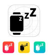 Sleep mode in smart watches icon Stock Illustration