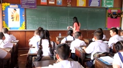 Children are learning Thailand - stock footage