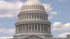United States Capital Building Washington DC Stock Footage