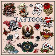 Stock Illustration of Tattoos