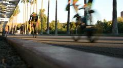 Bike Race 3 Stock Footage