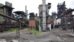 Coking und blast furnace Stock Photos