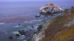 Rocky coastal scenery along California Highway One. Stock Footage