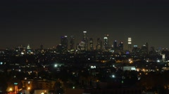 Nighttime Los Angeles Skyline Stock Footage