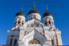 Domes of Alexander Nevsky Cathedral in Tallinn Stock Photos