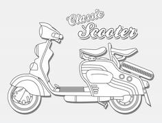 Motorcycle art theme Stock Illustration