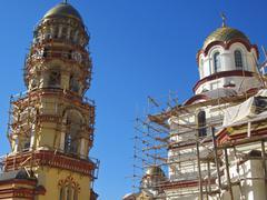 New Aphon monastery. Abkhazia republic. Caucasus travel - stock photo